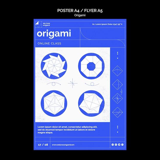 Motyw Szablonu Plakatu Origami Darmowe Psd