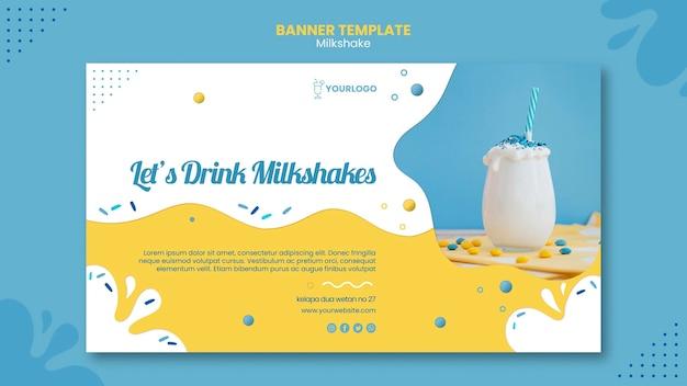 Motyw Szablonu Transparent Milkshake Darmowe Psd
