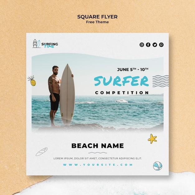 Motyw Szablonu Ulotki Surfer Darmowe Psd