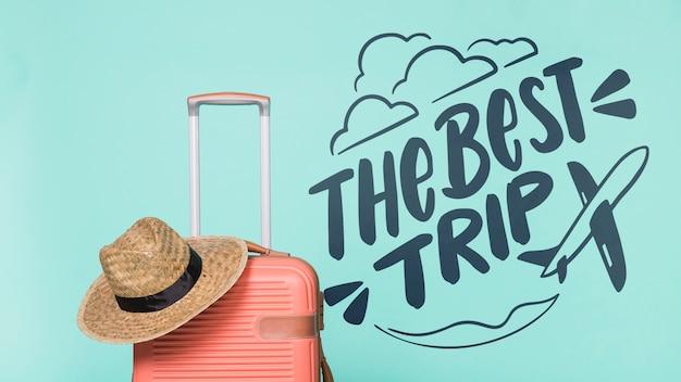 Motywacyjny napis cytat na wakacje podróży koncepcja Darmowe Psd