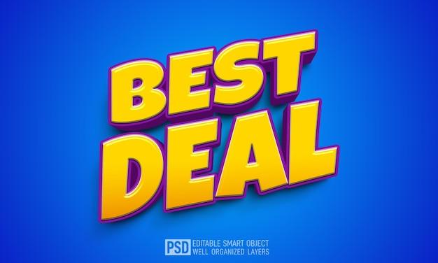 Najlepsza Oferta Szablon Efektu Stylu Tekstu 3d Premium Psd