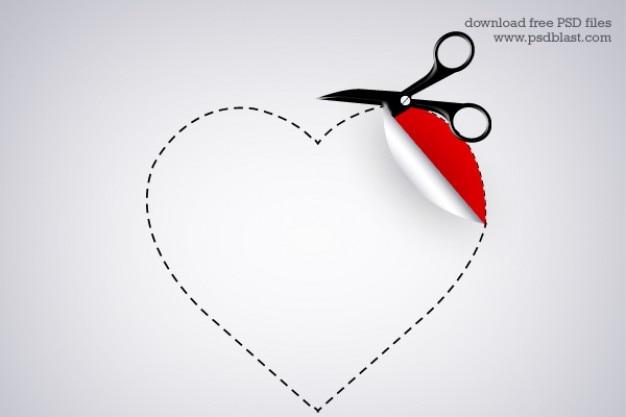 Naklejka w kształcie serca valentine Darmowe Psd