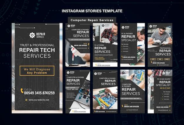 Napraw Szablon Opowiadań Na Instagramie Premium Psd