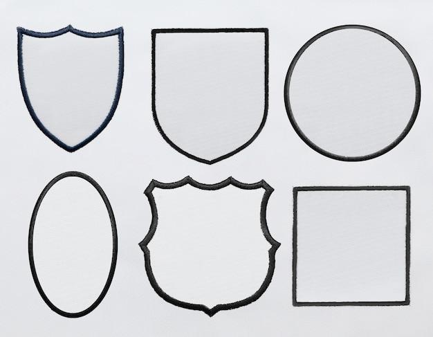 Naszywka Logo Na Tle Białej Tkaniny W Pliku Psd Premium Psd