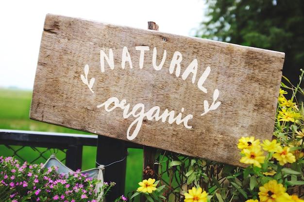 Naturalny Organiczny Drewniany Znak Deski Makieta Darmowe Psd