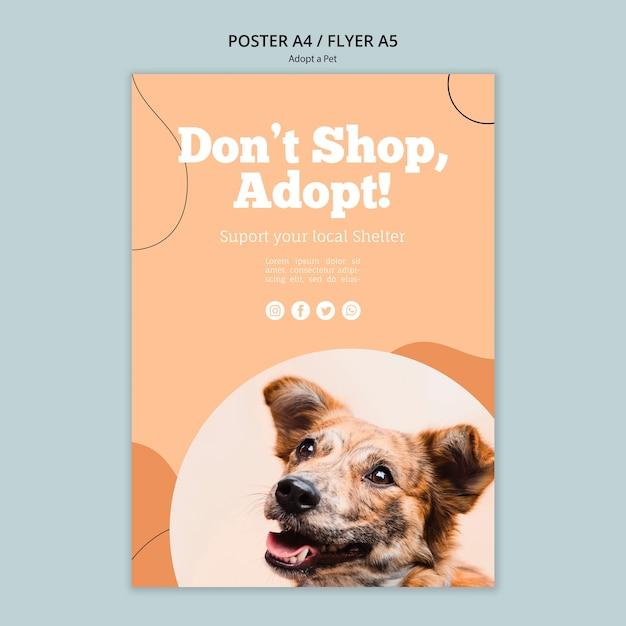 Nie Kupuj, Zastosuj Szablon Plakatu Ze Zwierzakiem Darmowe Psd