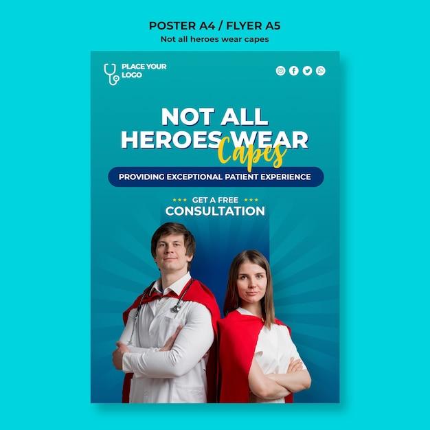 Nie Wszyscy Bohaterowie Noszą Szablon Koncepcyjny Peleryny Darmowe Psd