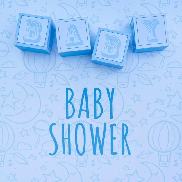 Niebieskie Dekoracje Prysznicowe Dla Dzieci Darmowe Psd