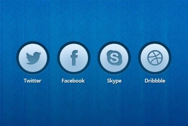 Niebieskie ikony przycisków edycji psd Darmowe Psd