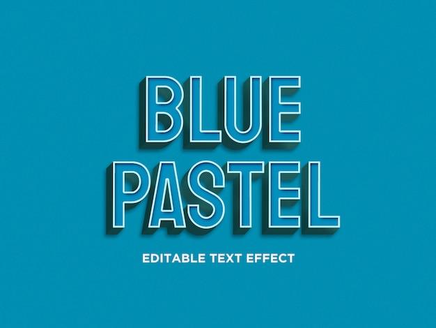 Niebieskie pastelowe efekty tekstowe 3d premium psd Premium Psd