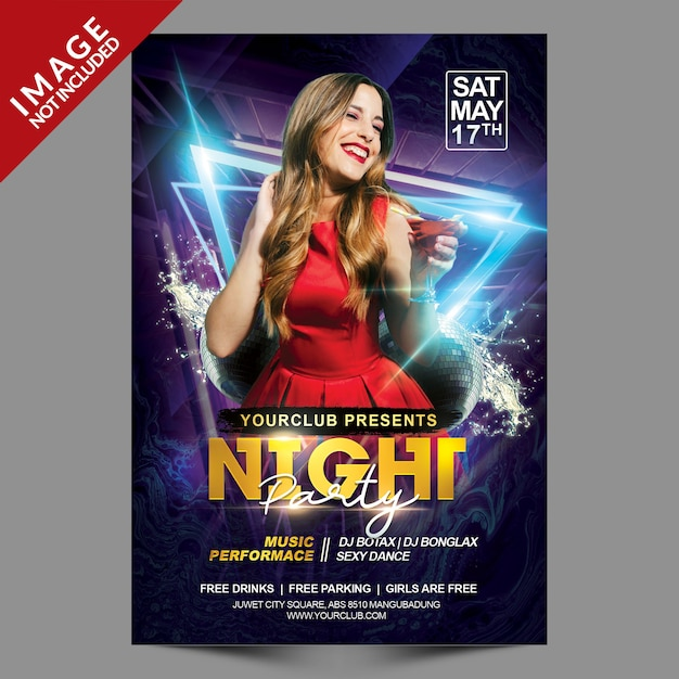 Night Party Psd Premium Flyer Template Premium Psd