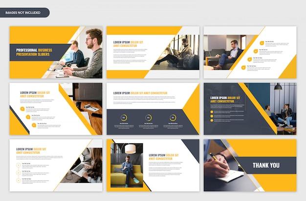 Nowoczesne Korporacyjnych Prezentacji żółty Suwak Szablonu Projektu Premium Psd