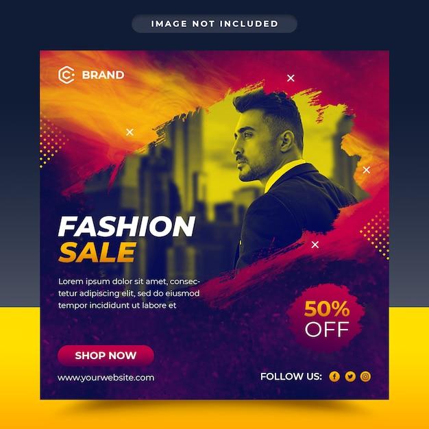 Nowoczesne Moda Sprzedaż Mediów Społecznościowych I Szablon Transparent Www Premium Psd