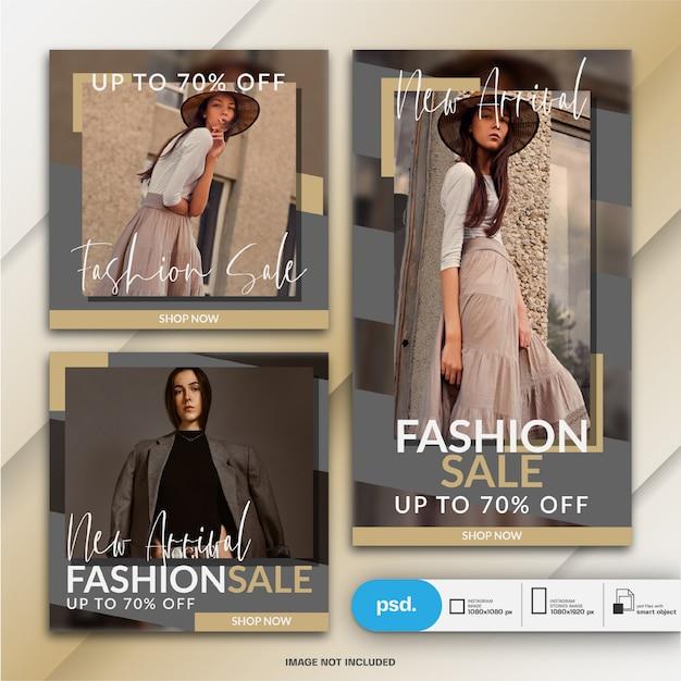 Nowoczesne moda szablon transparent mediów społecznościowych Premium Psd