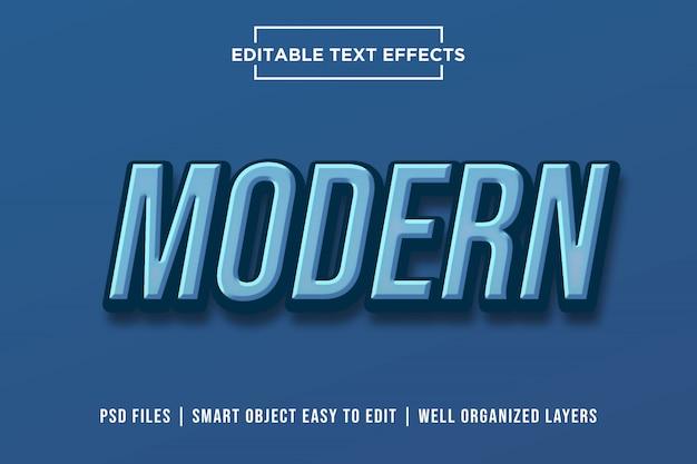 Nowoczesny efekt tekstowy Premium Psd