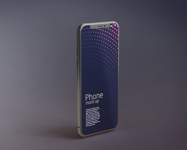 Nowoczesny ekran smartphone makieta Premium Psd