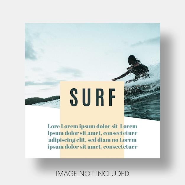 Nowoczesny instagram szablon surfowania Darmowe Psd