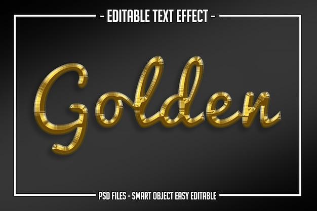 Nowoczesny luksus złoty styl tekstu edytowalny efekt skryptu Premium Psd