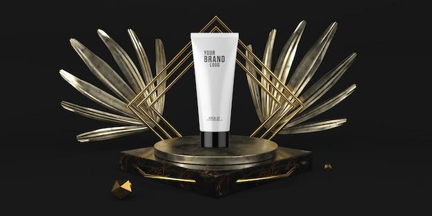 Nowożytnego Czarnego Pokazu Podium Kosmetyczny Szablon 3d Odpłaca Się Premium Psd