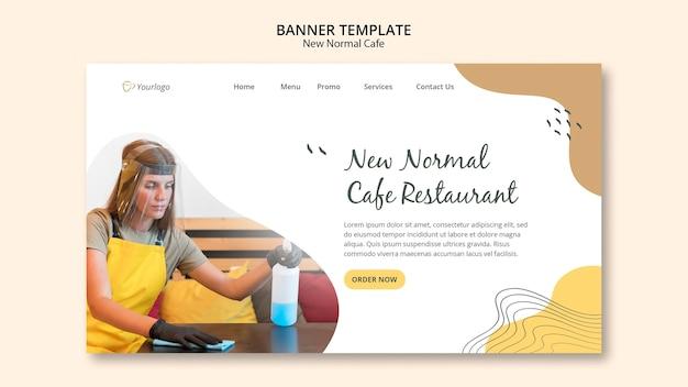 Nowy Szablon Banera Reklamowego Normalnej Kawiarni Darmowe Psd