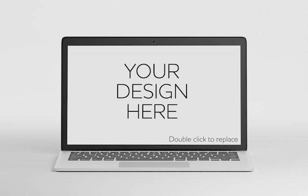Odosobniona laptop makieta Premium Psd