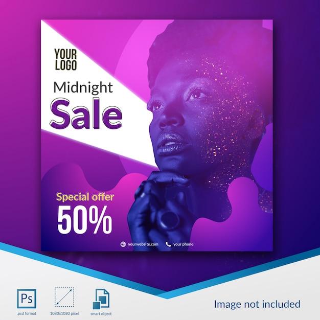 Oferta rabatowa w mediach społecznościowych w szablonie ze zniżkami na sprzedaż w północy Premium Psd