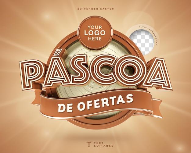 Oferty Wielkanocne W Brazylii 3d Render Czekolady Premium Psd