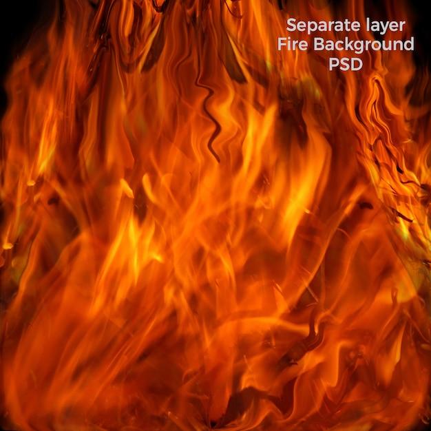 Ogień w tle Premium Psd