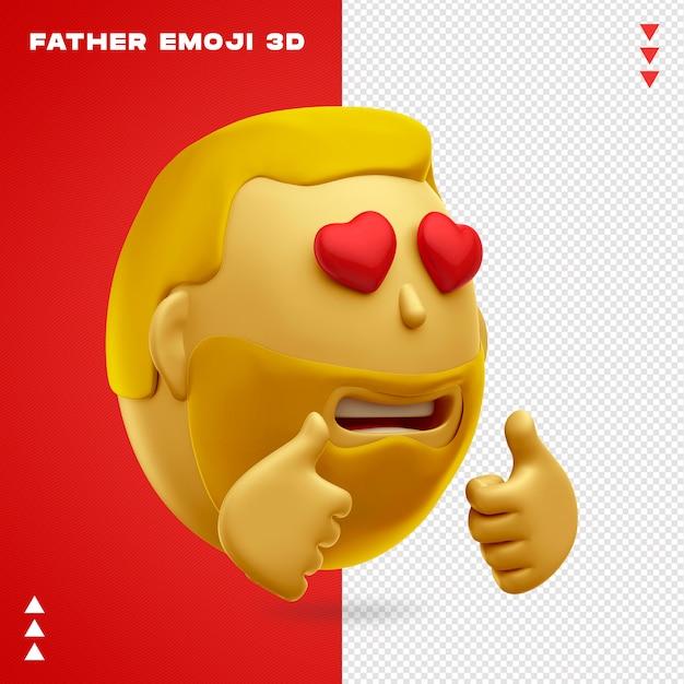 Ojciec Emoji Projektowania 3d Premium Psd