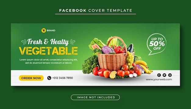 Okładka Na Facebooka Ze Zdrową żywnością Warzyw Premium Psd