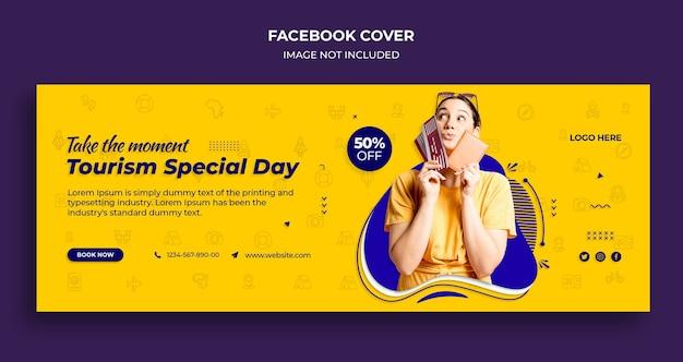 Okładka Osi Czasu Na Facebooku I Szablon Banera Internetowego Na Specjalny Dzień Turystyki Premium Psd