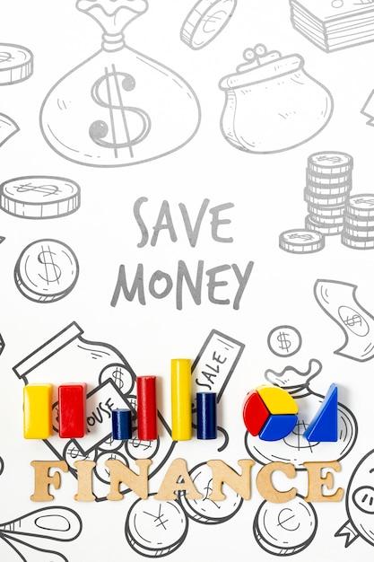 Oszczędzanie Pieniędzy Z Domeny Finansów Za Pomocą Wykresów Darmowe Psd