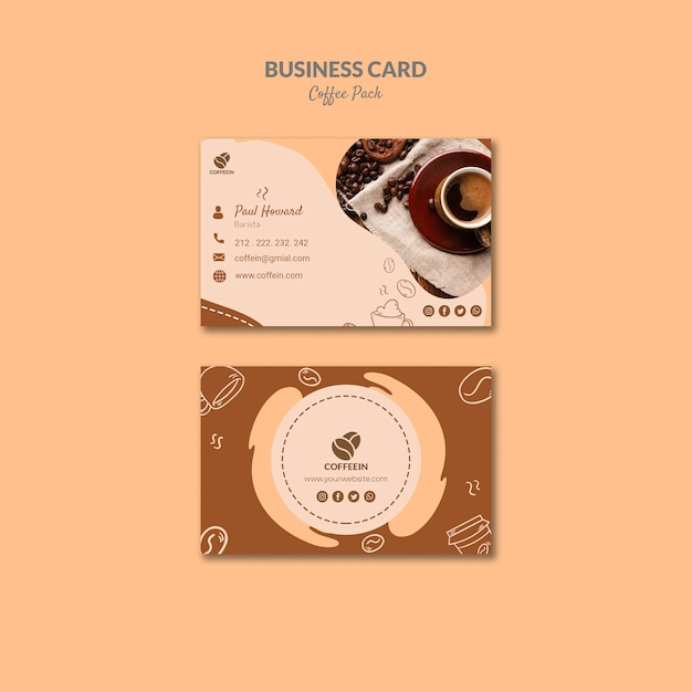 Otwarcie Szablonu Wizytówki Kawa Sklep Darmowe Psd