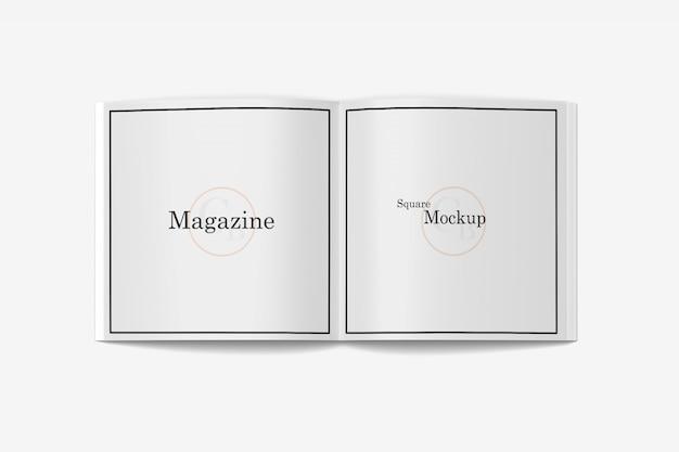 Otwarta Makieta Magazynu Kwadratowego Premium Psd