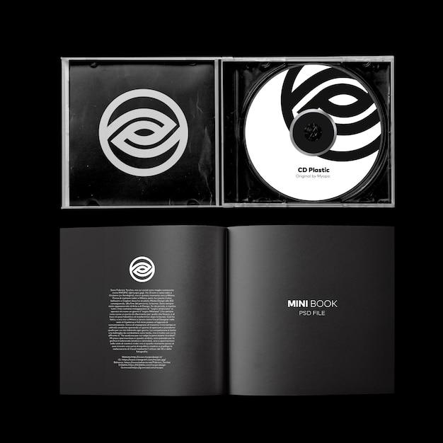 Otwarta Okładka Cd + Makieta Minibook Premium Psd