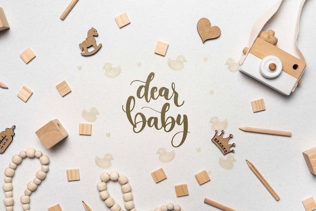 Ozdoby Baby Shower Z Aparatem Premium Psd