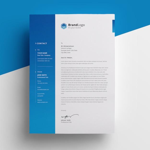 Papier Firmowy Z Akcentem Gradientowym Premium Psd