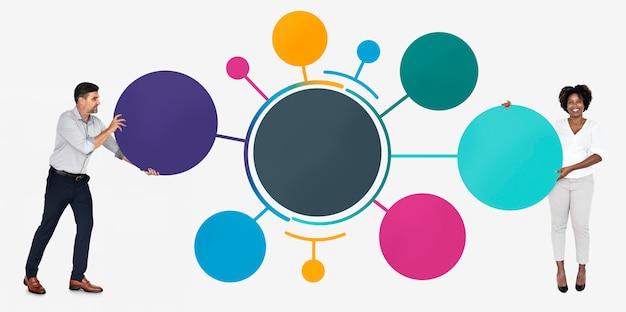 Partnerzy biznesowi ze strategią Premium Psd