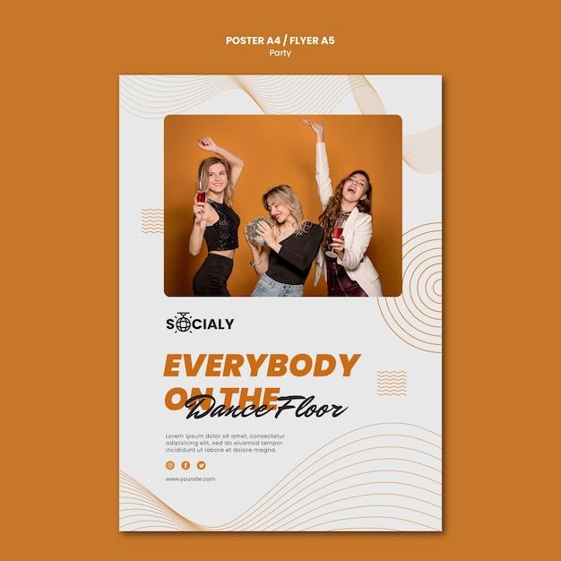 Partyjna Koncepcja Plakat Szablon Projektu Darmowe Psd