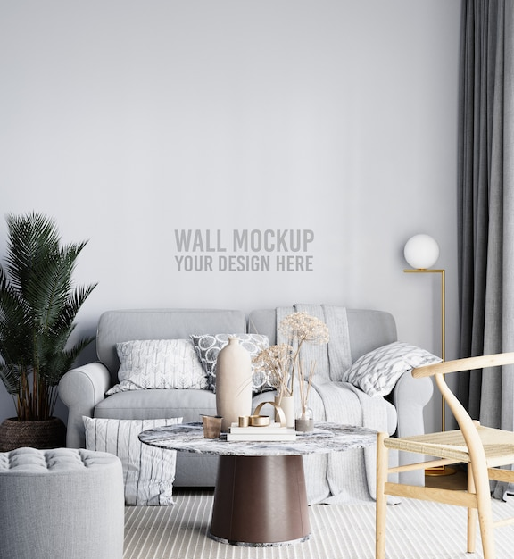 Piękna Makieta ściany Salonu Premium Psd