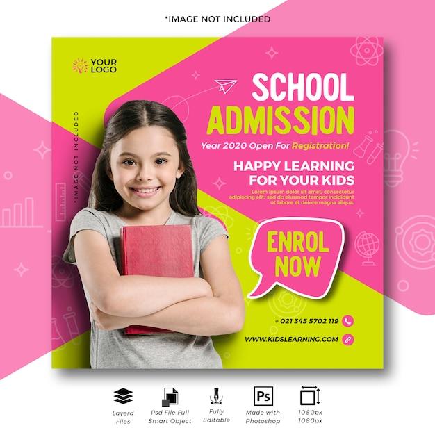 Piękny Edukacyjny Sztandar Sprzedaży Dla Marketingu Mediów Cyfrowych. Premium Psd