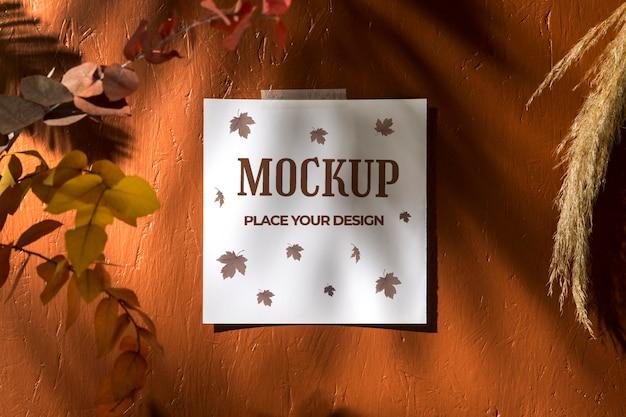 Piękny Jesienny Makieta Moodboard Darmowe Psd