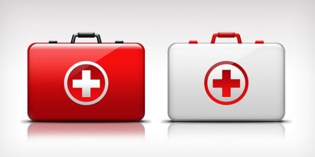 Pierwsza pomoc medyczna zestaw ikon Darmowe Psd