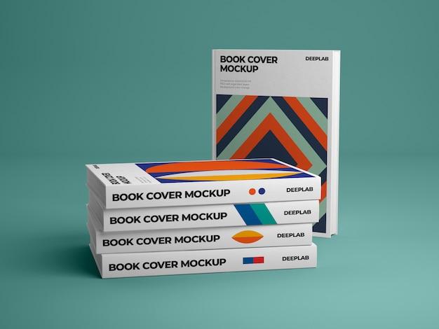 Pionowa Książka W Twardej Oprawie Z Edytowalnym Makietą Koloru Tła Premium Psd