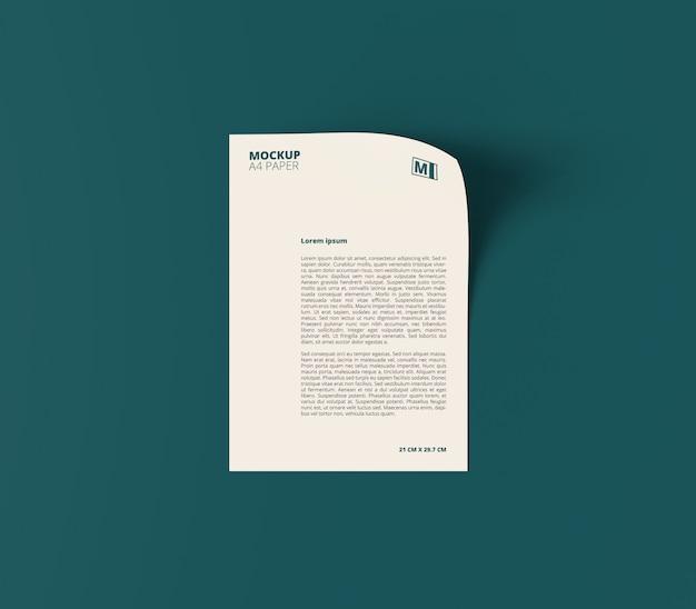 Pionowa Makieta Dokumentu Biznesowego A4 Premium Psd