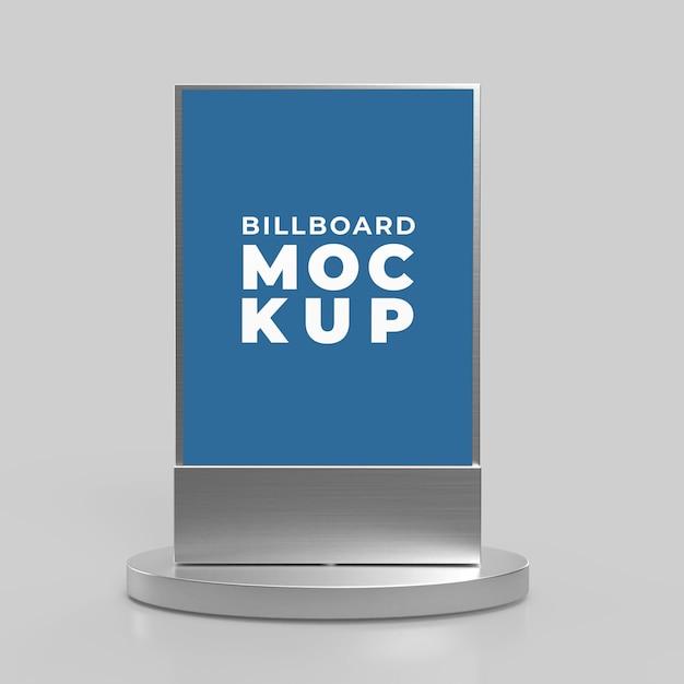 Pionowy Billboard Makiety Premium Psd