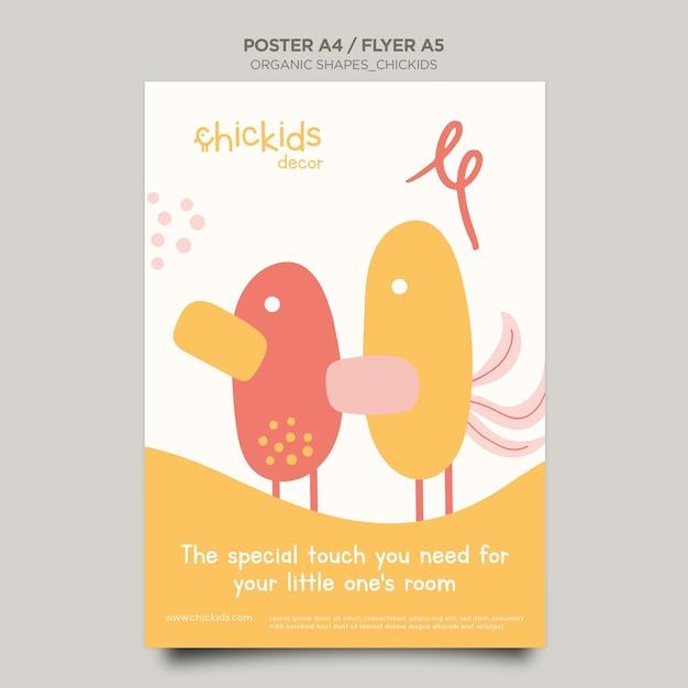 Plakat Do Sklepu Z Wyposażeniem Wnętrz Dla Dzieci Darmowe Psd