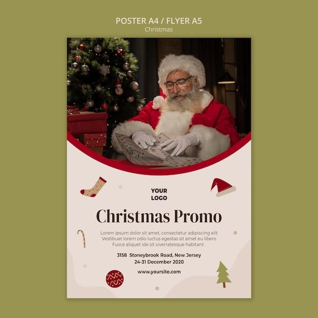 Plakat Do Sprzedaży świątecznych Zakupów Darmowe Psd