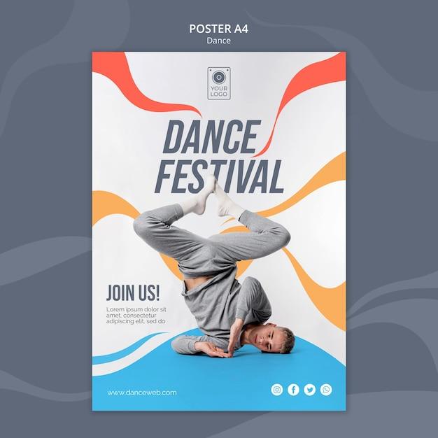Plakat Na Festiwal Tańca Z Wykonawcą Premium Psd