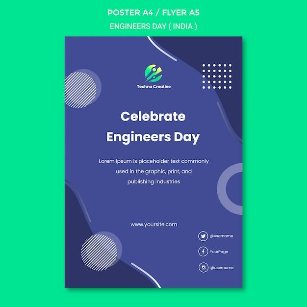 Plakat Na Obchody Dnia Inżyniera Darmowe Psd